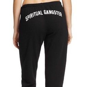 Spiritual Gangster Black Sweatpants